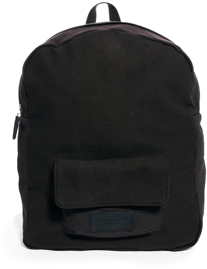 Selected Canvas Backpack - Black