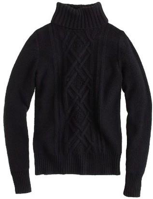 Women's J.crew Cambridge Cable Turtleneck Sweater $98 thestylecure.com