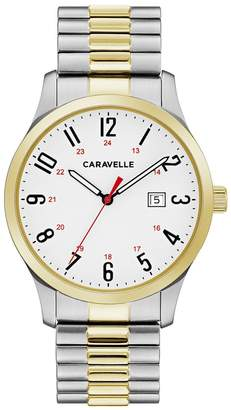 Caravelle Men's Easy Reader Two Tone Stainless Steel Expansion Watch - 45B147