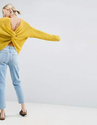 ASOS Chunky Sweater Twist Back $45 thestylecure.com