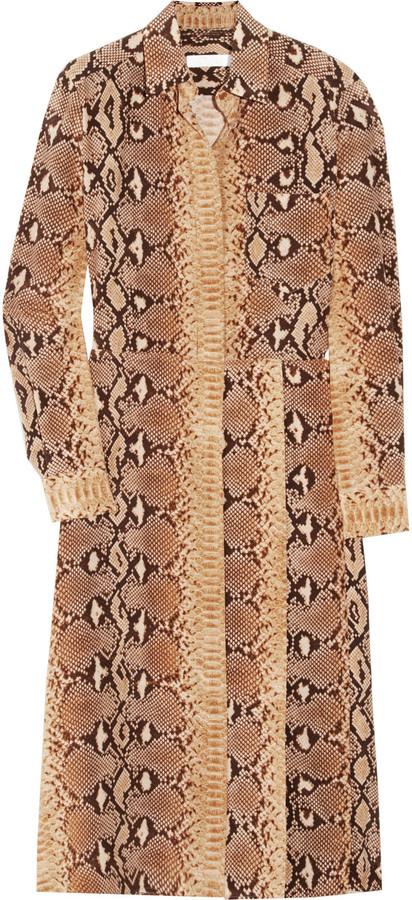 Chloé Python-print silk dress
