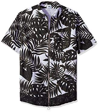 Chapter Men's Short Ome Floral Sleeve Shirt