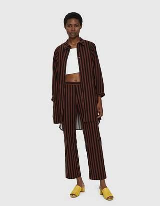 Rachel Comey Gambrig Oversize Shirt in Brown Stripe