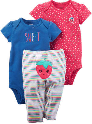 Carter's Little Baby Basics 3-pc. Pant Set - Baby Girls NB-24M
