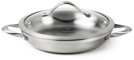 """Calphalon Contemporary Stainless Steel 10"""" Everyday Pan with Lid"""