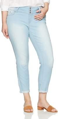 YMI Jeanswear Women's Plus Size Juniors Wannabettabutt Triple Button Anklet