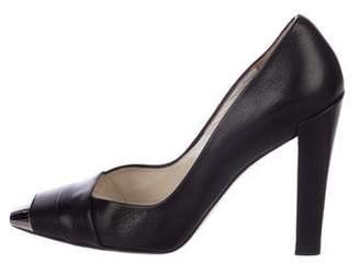 Christian Dior Leather Cap-Toe Pumps