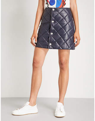Claudie Pierlot Quilted leather skirt