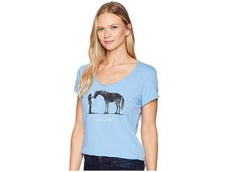 Life is Good Besties Horse Smooth T-Shirt