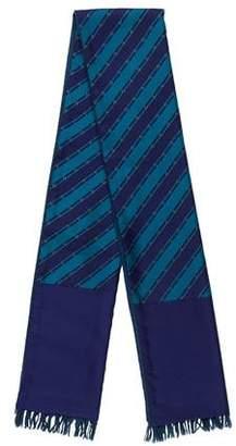 Hermes Striped Silk & Cashmere Stole