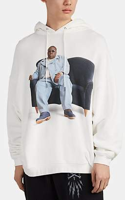 R 13 Men's Biggie-Graphic Cotton-Blend Hoodie - White