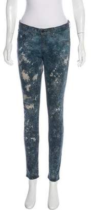 Rag & Bone Printed Mid-Rise Pants