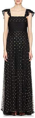 Philosophy di Lorenzo Serafini Women's Embroidered Mesh Maxi Dress
