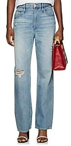 3x1 Women's Addie Distressed Wide-Leg Jeans-Blue