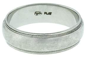Mens Platinum Milgrain Wedding Band