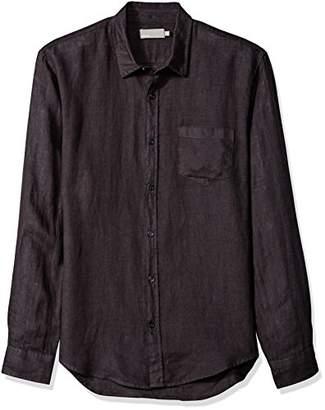 Vince Men's Linen Long Sleeve Button up