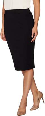 Halston H By H by Petite VIP Ponte Pull-on Knit Pencil Skirt