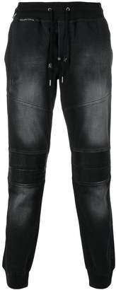 Philipp Plein elasticated biker jeans