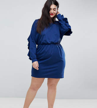 Asos Sweat Dress With Frill And Open Back