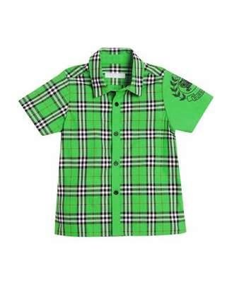 Burberry Sammi Check Embroidered-Sleeve Shirt, Size 4-14