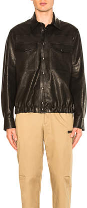 Neil Barrett Leather Blouson Shirt