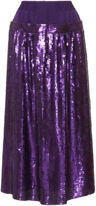 Tibi Sequins Full Skirt