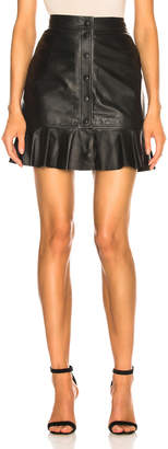 Ganni Thin Lamb Leather Skirt