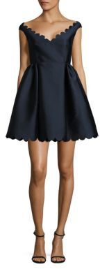 RED Valentino Scalloped A-Line Dress $695 thestylecure.com