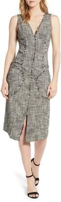Rachel Roy Collection Raw Edge Tweed Dress