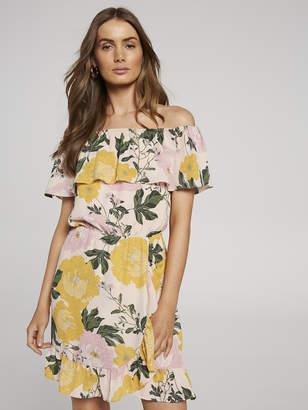 Portmans Australia Pastel Outline Off Shoulder Dress