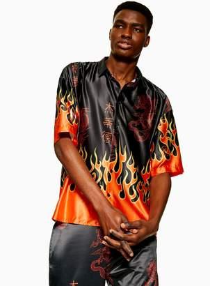 TopmanTopman JADED Flame Shirt*