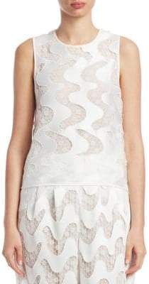Emporio Armani Sheer Wave Sleeveless Top