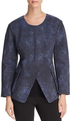 Donna Karan Collarless Split-Front Jacket