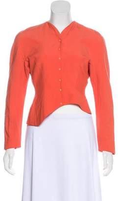 Thierry Mugler Wool Cropped Jacket