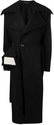 Yohji Yamamoto double buttoned coat
