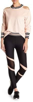 C&C California Stripe Waist Mesh Leggings