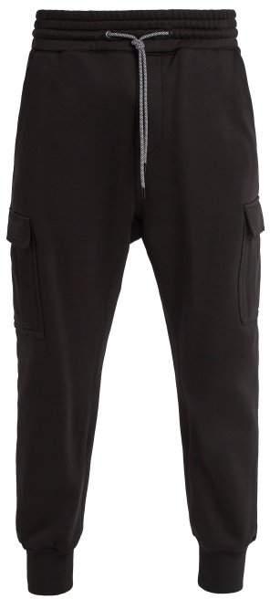 Patch-pocket cotton track pants