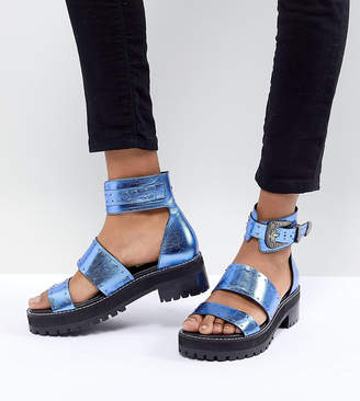 Asos DESIGN Foxglove Premium Leather Gladiator Flat Sandals