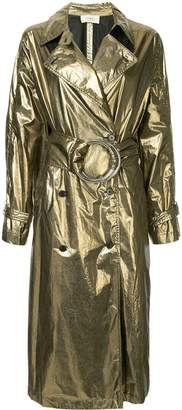 Ports 1961 metallic belted trench coat
