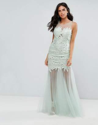 Forever Unique Lace Insert Maxi Dress