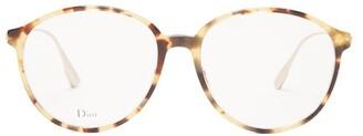 Christian Dior Round Tortoiseshell Acetate Glasses - Womens - Tortoiseshell
