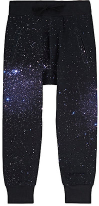 Munster Kids Galaxy-Print French Terry Jogger Pants-NAVY $43 thestylecure.com