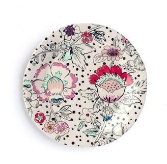 Vera Bradley Accent Floral Stripe 8.5 Melamine Salad Plate (Set of 2)