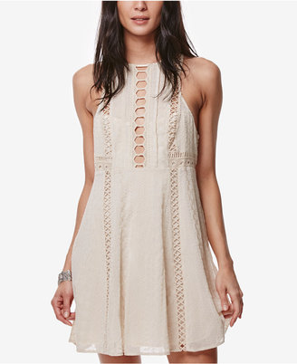 Free People Wherever You Go Crocheted Mini Dress $128 thestylecure.com