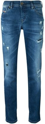 Diesel tapered distressed jeans $209.78 thestylecure.com