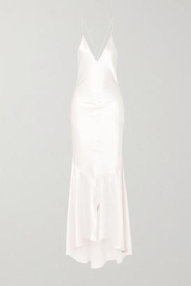 Michael Lo Sordo Silk-satin Gown - White