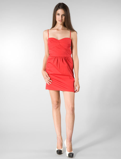 Laila Azhar Spaghetti Strap Dress in Red