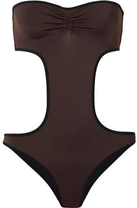Solid & Striped The Carolyn Cutout Swimsuit - Dark brown