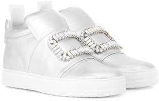 Roger Vivier Sneaky Viv' metallic leather sneakers