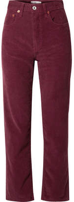 RE/DONE Stove Pipe Cotton-corduroy Straight-leg Pants